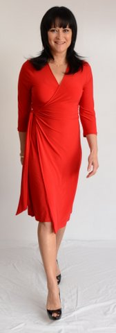 Red Classic Wrap Dress