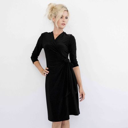 Navy or Black Classic Wrap Dress